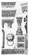 Romanesque Ornament Beach Towel