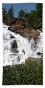 Running Water Glen Alpine Falls Beach Towel