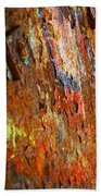 Rust Background Beach Towel