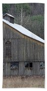 Rustic Weathered Mountainside Cupola Barn Beach Towel