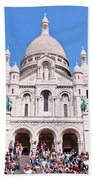 Sacre Coeur Basilica Paris France Beach Towel