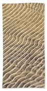 Sand Ripples In Shallow Water Beach Towel