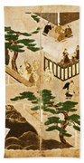 Scenes From The Tale Of Genji Beach Towel