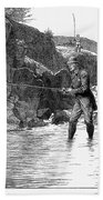 Scotland: Fishing, 1880 Beach Towel