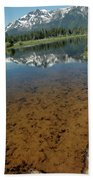 Shallow Water Reflections Beach Towel