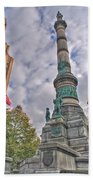 Soldiers And Sailors Monument In Lafayette Square Beach Towel
