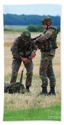 Soldiers Of The Belgian Army Beach Towel