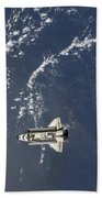 Space Shuttle Endeavour Backdropped Beach Towel