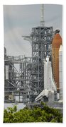 Space Shuttle Endeavour On The Launch Beach Towel