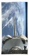 Space Shuttle Endeavours Payload Bay Beach Towel by Stocktrek Images