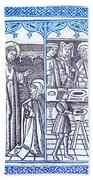 St. Catherine, Italian Philosopher Beach Towel