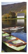 St. Finbarres Oratory And Rowing Boats Beach Towel
