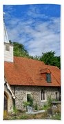 St Laurence Church Cowley Middlesex Beach Towel