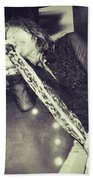 Steven Tyler In Concert Beach Towel