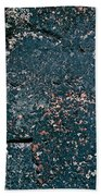 Stoneface At Hossa With Stone Age Paintings Beach Towel