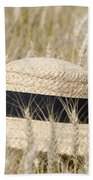 Straw Hat Beach Towel