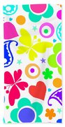 Summer Fun Beach Towel by Louisa Knight
