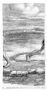 Sumo Wrestling, 1853 Beach Towel