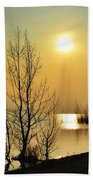 Sunlight Over A Lake Beach Towel