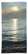Sunset Over An Alpine Lake Beach Towel