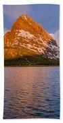 Swiftcurrent Lake Panorama Beach Towel