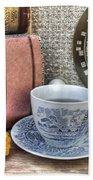 Tea Time Beach Towel by Jane Linders