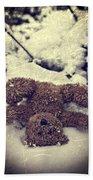 Teddy In Snow Beach Towel by Joana Kruse