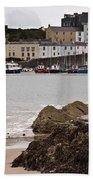 Tenby Harbour From North Beach Beach Towel