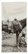 Texas: Cowboy, C1910 Beach Towel