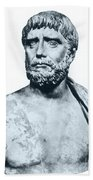 Thales, Ancient Greek Philosopher Beach Towel by Photo Researchers
