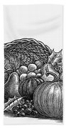 Thanksgiving: Cornucopia Beach Towel