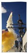The Aegis-class Destroyer Uss Hopper Beach Towel