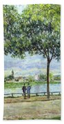 The Avenue Of Chestnut Trees Beach Towel by Alfred Sisley