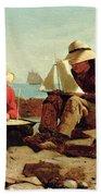 The Boat Builders Beach Towel
