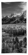 The Grand Tetons And The Snake River Beach Towel