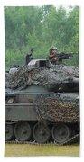 The Leopard 1a5 Main Battle Tank Beach Towel by Luc De Jaeger