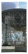 The Lovell Telescope At Jodrell Bank Beach Towel