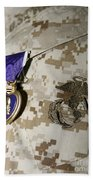 The Purple Heart Award Beach Towel by Stocktrek Images