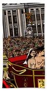 The Royal Nude Wedding Beach Towel by Karen Elzinga