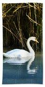The White Swan Beach Towel