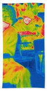 Thermogram Of Students In A Lecture Beach Towel