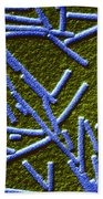 Tobacco Mosaic Virus Beach Towel by Omikron