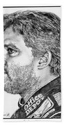 Tony Stewart In 2011 Beach Towel by J McCombie