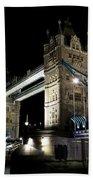 Tower Bridge At Night Beach Towel