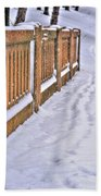Tracks In The Snow Beach Towel