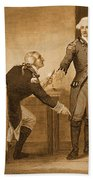 Treason Of Benedict Arnold, 1780 Beach Towel by Photo Researchers