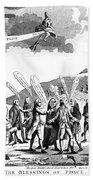 Treaty Of Paris, 1783 Beach Towel