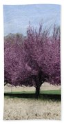 Trees On Warwick Beach Towel by Trish Tritz