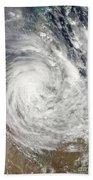 Tropical Cyclone Yasi Over Australia Beach Towel