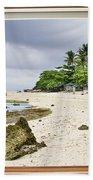 Tropical White Sand Beach Paradise Window Scenic View Beach Towel